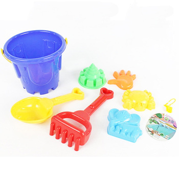 SLPF7 Piece Set Tuba Children Beach Toys Bucket Shovel Scorpion Sand Mold Summer Hot Play Water Kids Play House Outdoor Game G35 3