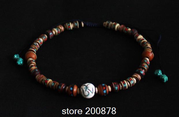 Tnl311 tibetana yak collar de cuentas de hueso, Nepal Naga concha de la joyería, cuentas de bricolaje