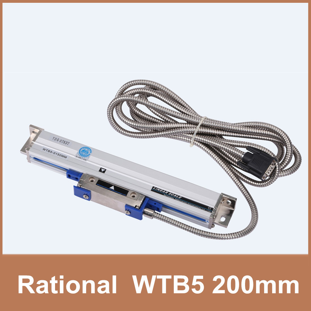Free Shipping Rational WTB5 0.005mm 200mm linear scale TTL 5V linear encoder for milling lathe CNC linear scale 5V free shipping high precision easson gs11 linear wire encoder 850mm 1micron optical linear scale for milling machine cnc