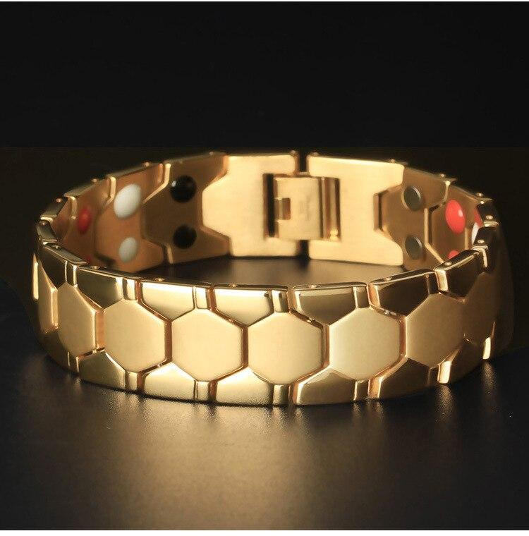 Magnétothérapie énergie main marteau balle Simple en acier titane bijoux portant les hommes bijoux en acier inoxydable galvanisé