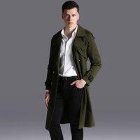 Плащ мужской большой вес 110 кг зимняя мужская полиэфирное волокно пальто воротник дизайн длинная верхняя одежда пальто черный зеленый, беже