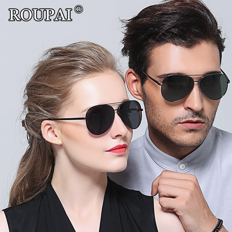 ROUPAI Brand Luxury Unisex Shades For Women Men 2017 Fashion Polarized Sunglasses Driving Glasses Female Male Aviator Sun Glass