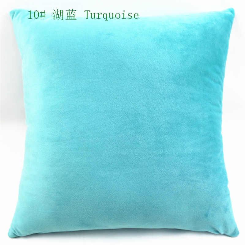 Mode Kustom Lembut Warna Solid Pendek Mewah Besar Sarung Bantal Bantal Bantal Dekorasi Rumah untuk Sofa Kursi Cojines Almofada Hadiah
