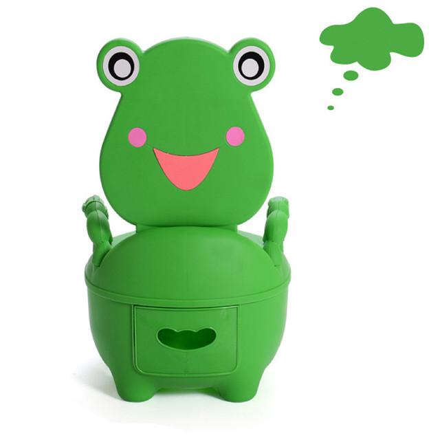 Aumentar Crianças Potties Wc Dos Desenhos Animados do sapo Verde Higiênico Gaveta Higiênico Menino & Da Menina Do Bebê Dos Miúdos Crianças Potty Urina Bacia
