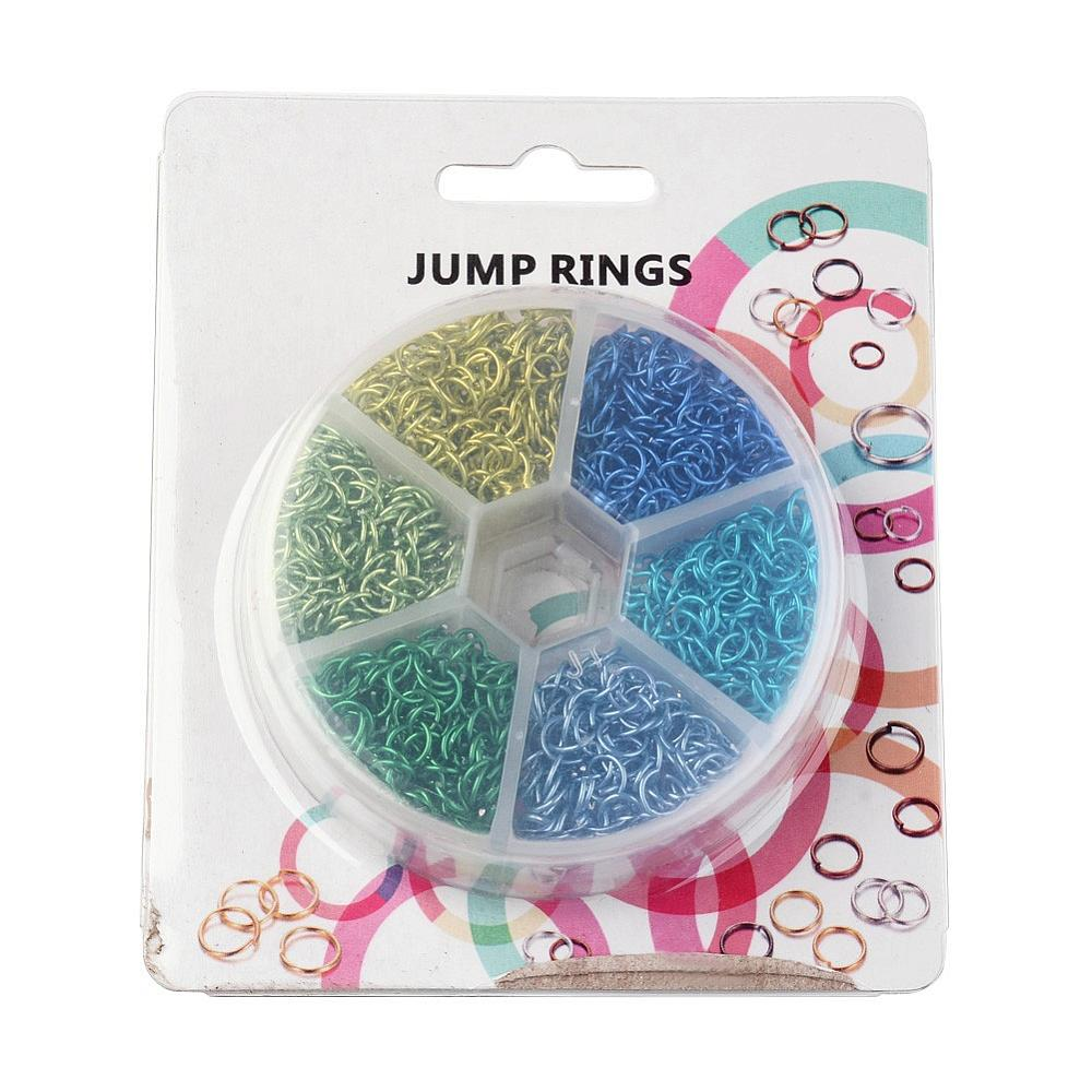 6x0.8mm Mixed 6 Colors Aluminum Wire Open Jump Rings Jewelry ...
