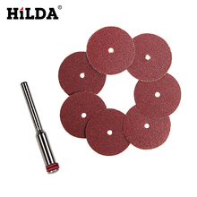 HILDA 30pcs Sand Paper Sanding Sheet Disc 20x0.3mm Dremel Style For Dremel Rotary Tools Acsessories(China)
