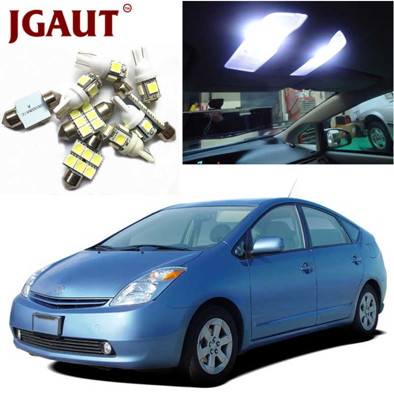 JGAUT For 2004-2015 Toyota Prius White Red Blue LED Lights Interior Package Kit Map Dome Licens Trunk/Cargo Step/Courtesy Light