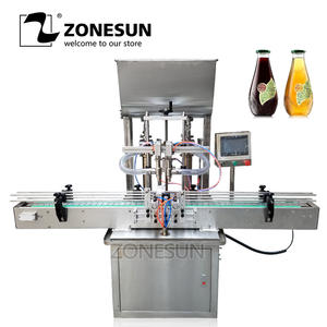 ZONESUN Gel Filling-Machine Honey-Paste Automatic Beverage-Production-Line Cans Oil-Alcohol