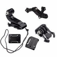 Acessórios da câmera de ação conjunto para gopro hero 5 3 4 xiaomi yi 4k sjcam sj4000 cinta no peito base montagem ir pro capacete kits