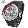 Deportes digitales Relojes de Los Hombres Por Igual Marca Famosa Doble Correa de Caucho Movimiento 5ATM impermeable Militar reloj Relogio masculino masculino