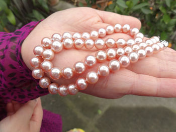 elegant 9-10mm south sea round pink lavenderpearl necklace 18inch