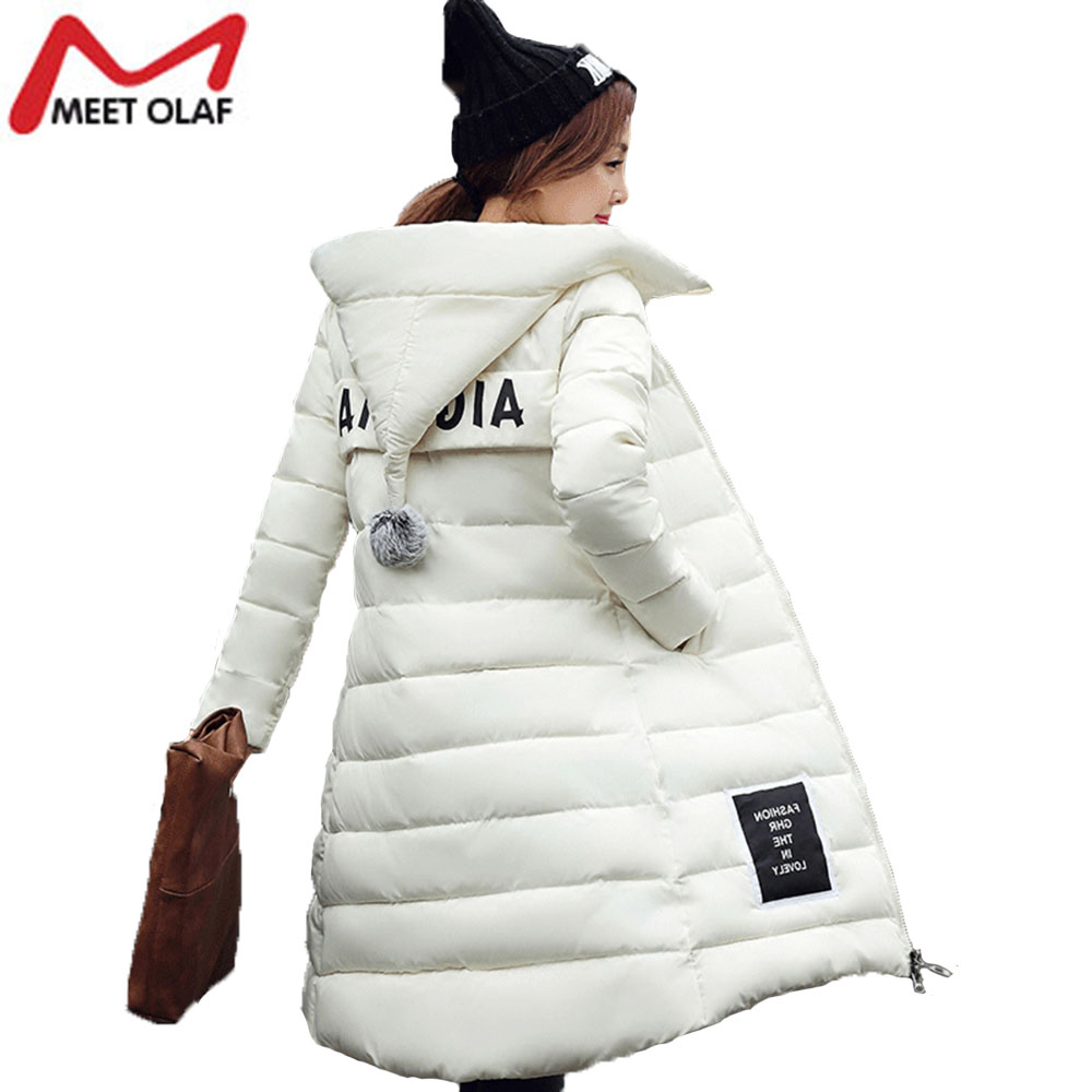 2017 Women Winter Hooded Parkas Thick Warm Coat and Jackets 5XL  Cotton Padded Ladies Long Wadded Parka Outerwear Tops YL019 fdfklak winter jacket women 2017 new cotton padded jackets women s outerwear long coat print hooded thick warm coats and parkas
