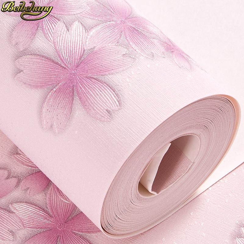 beibehang Pastoral floral wallpaper bedroom wallpapers for living room clothing store beauty salon pink blue petals wall paperbeibehang Pastoral floral wallpaper bedroom wallpapers for living room clothing store beauty salon pink blue petals wall paper