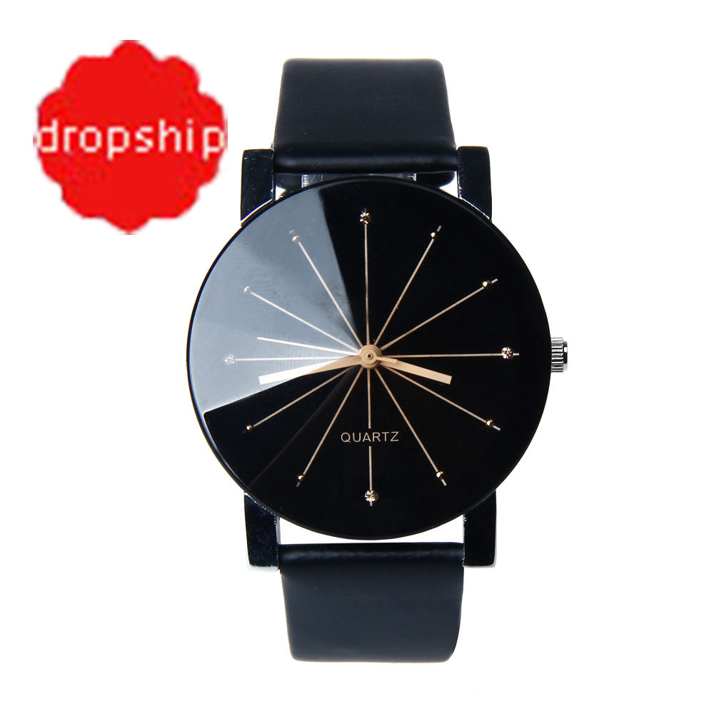 Splendid Watches Men Women Luxury Top Brand Quartz Dial Clock Leather Round Casual Wrist watch Relogio masculino(China)