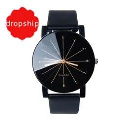 Роскошные часы для мужчин женщин Роскошные Лидирующий бренд кварцевые часы кожа круглый повседневное наручные Relogio masculino