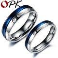 OPK Fashion Korean fashion stainless steel couple ring male and female senior couple titanium engagement ring anillos de oro 192