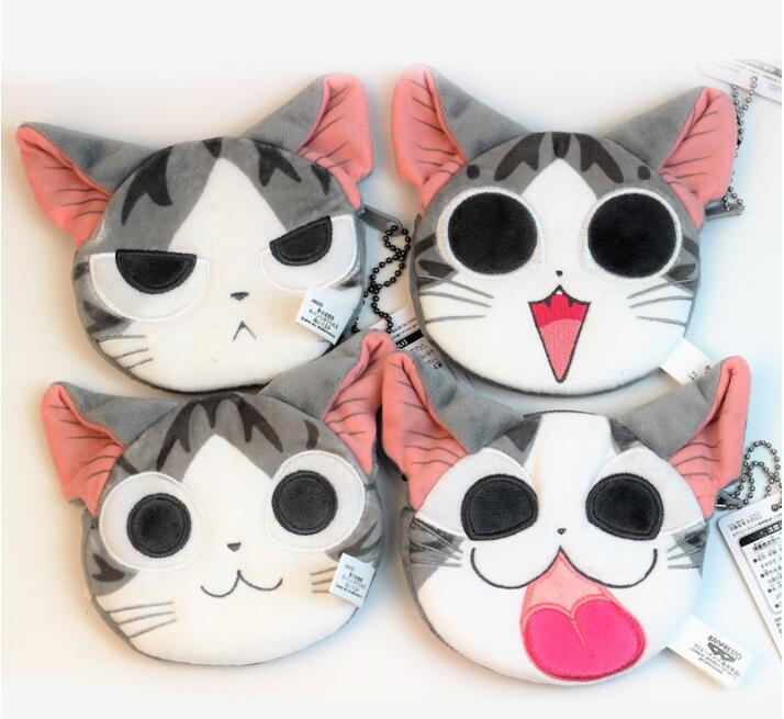 DUDINI Ladies Cat Coin Purses Wallet Zipper Change Purse Plush Handbag Monederos Infantiles
