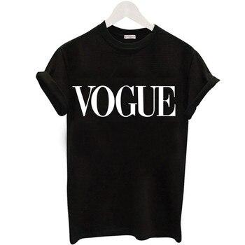 Plus Size S-XL Harajuku Summer T Shirt Women New Arrivals Fashion VOGUE Printed T-shirt Woman Tee Tops Casual Female T-shirts