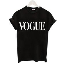 Plus rozmiar S-XL Harajuku lato T koszula kobiety nowości moda VOGUE koszulka z nadrukiem kobieta Tee topy Casual koszulki damskie tanie tanio Soatrld COTTON Poliester NONE Tees Drukuj Krótki REGULAR VG001 Dzianiny O-neck Na co dzień T-shirts For Women Ladie s T-Shirt