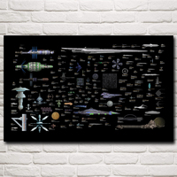 Star Trek Babylon 5 Space Battlestar Galactica Art Silk Poster Decor Pictures 12x19 15x24 19x30 22x35