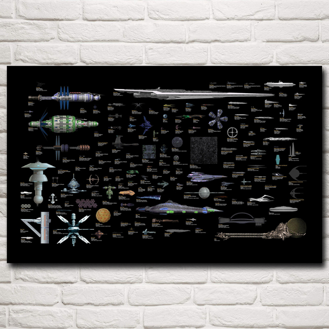 Starships Art Silk Poster