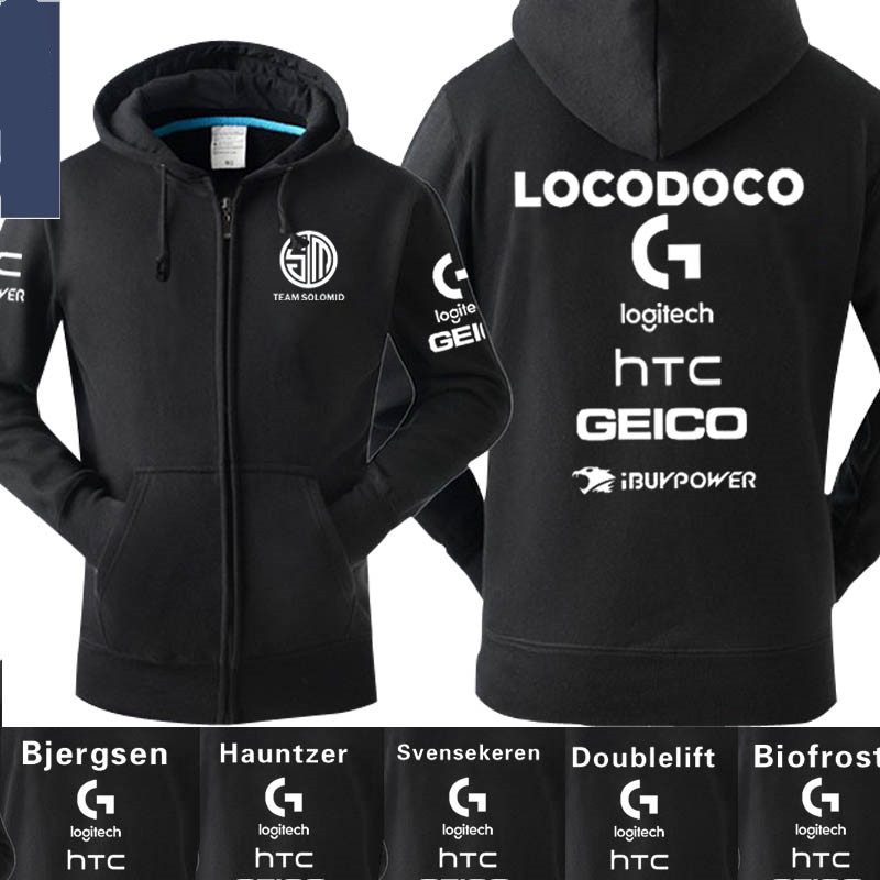 S6 LOL Bjergsen Doublelift TSM Team Solo Mid Hoodies Sweatshirt Unisex fleece Jacket Hoodie Cosplay Hoodies for men women