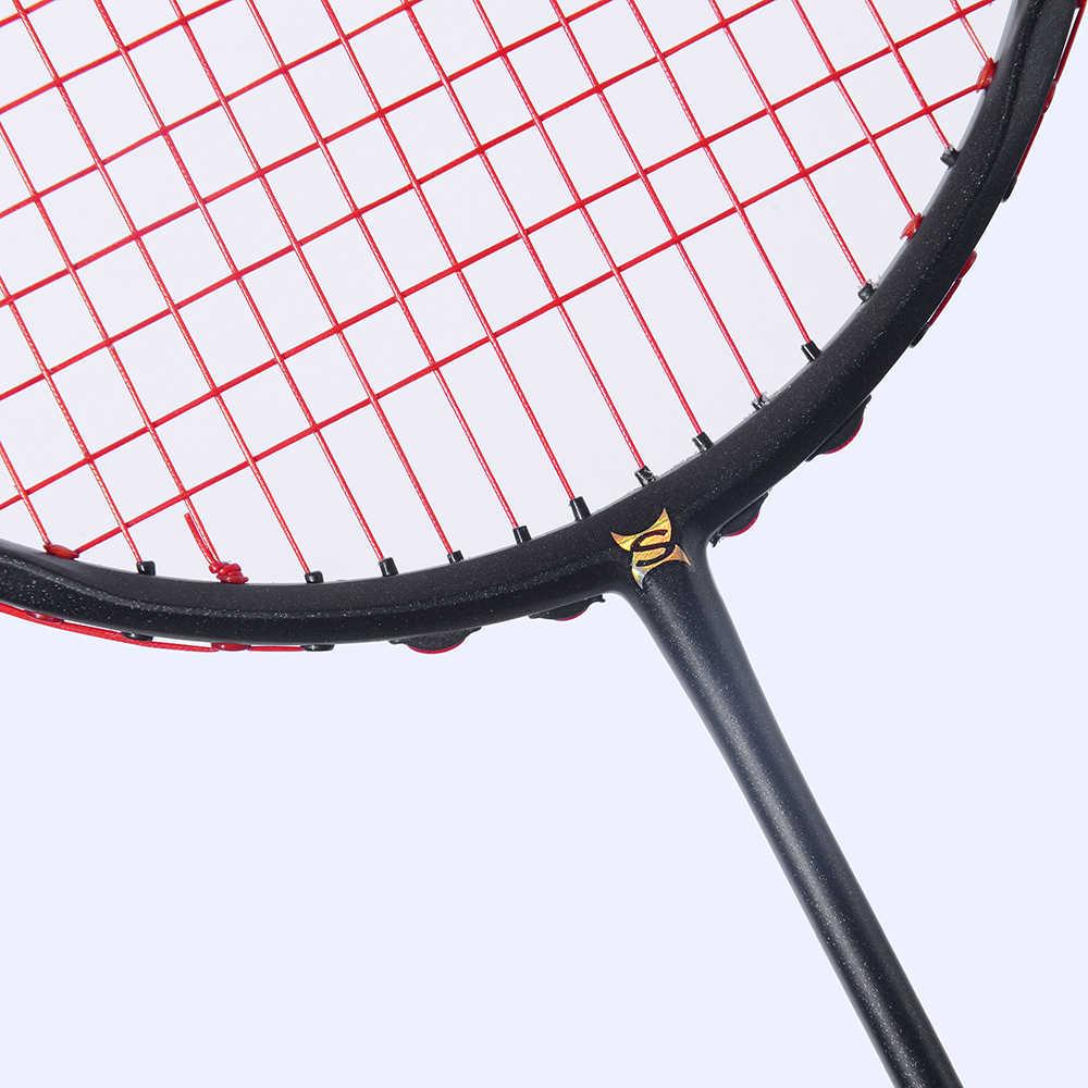 Curve Shape Speed Smash Carbon Badminton Racket High Tension Heavy Head Men's Badminton Racquet 75g Max 32LBS