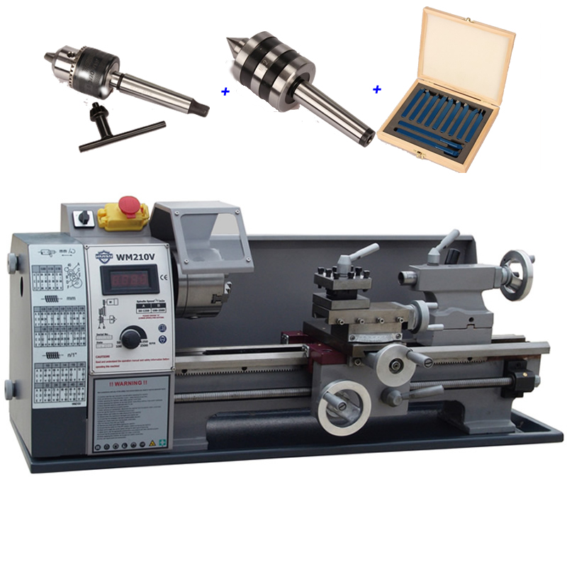 Mini Lathe Machine WM210V Small Household Lathe with 600W Motor
