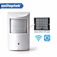 WIFI IP Camera 720P 960P 1080P PIR Style Indoor TF Slot Wired & Wireless Camera Onvif with Invisible 940nm IR LED Built in Audio