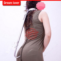 2014 High Quality Stainless Steel Women Sex Anal Plug With Key And Lock Adult Sex Products