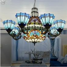 Villa living room dining hall project upscale Mediterranean garden lightsBedroom lamp Hall Chandeliers Upscale atmosphere