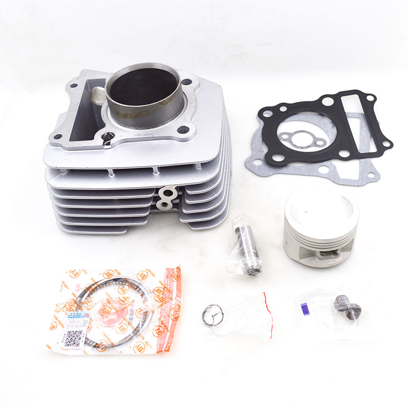 For Suziki EN125 GZ125 EN GZ 125 Big Heat Sink 57mm Bore High Quality Motorcycle Cylinder Kit Set Engine Spare Parts synthetic graphite cooling film paste 300mm 300mm 0 025mm high thermal conductivity heat sink flat cpu phone led memory router