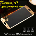 protective glass on the for samsung galaxy s7 edge screen protector tempered glass film 3D Full coverage mobile accessories