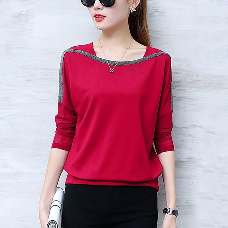 Blouse Shirts Women 2019 Spring Autumn Casual O-Neck Long Sleeve Loose Plus Size Woman Clothing Blusas Femininas Ropa Mujer