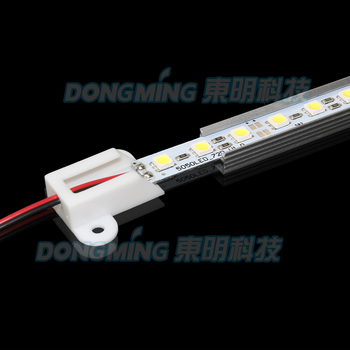 With aluminum profile U Shell 5050 SMD 36 LED luces Strip light 50cm  Cool/Warm White 12V jewelry showcase lighting 20pcs/Lot