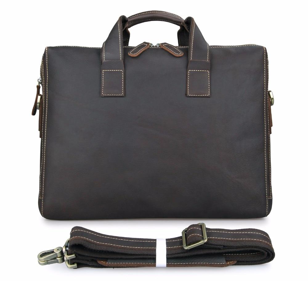 J.M.D 100% Guarantee Genuine Excellent Crazy Horse Leather Handbag Vintage Cross Body Bag Shoulder Bag For Men 7167R jmd 100% guarantee genuine vintage leather women s tote shoulder bag for shopping 7271c