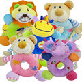 Baby toy 0-12 months kids gift Elephant Lion Bear Deer Cattle Animal Shaped Catoon Hand Bell Ring Rattles Kid Plush Soft Toy