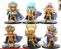 6pcs/set Saint Seiya The Gold Zodiac action figure PVC toys collection doll anime cartoon model for friend gift