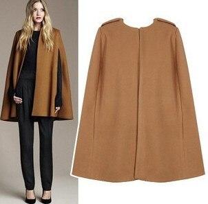 2017 star style Women's Cloak Woolen Coat Fashion Spring ...