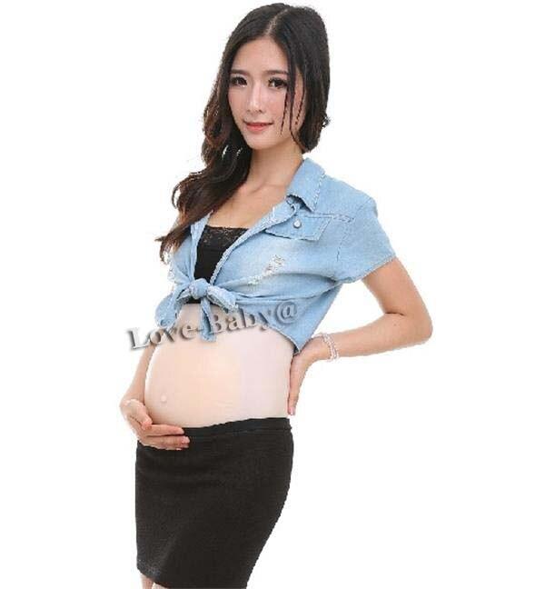 2 ~ 4 месяца поддельный беременный живот силиконовый детский животик для актера транссексуал Ложная беременность