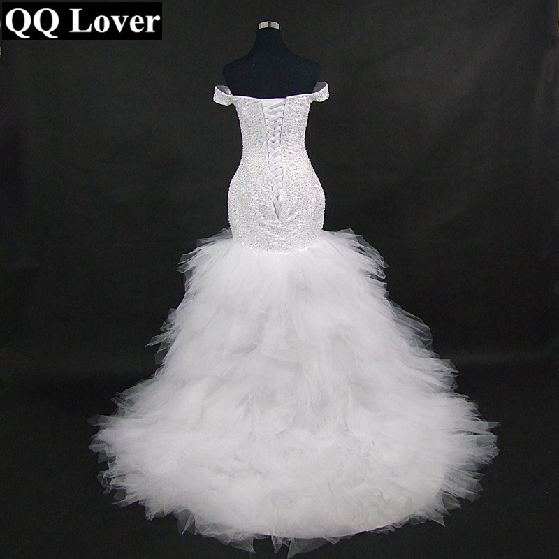 QQ Lover 2019 New African Full Beaded Off the Shoulder