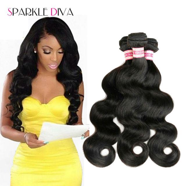 8A Brasileños Virgin Hair Body Wave 3 Bundles Sin Procesar Del Pelo Humano Teje Bundles Brasileño Onda Del Cuerpo Armadura Brasileña Del Pelo de Visón