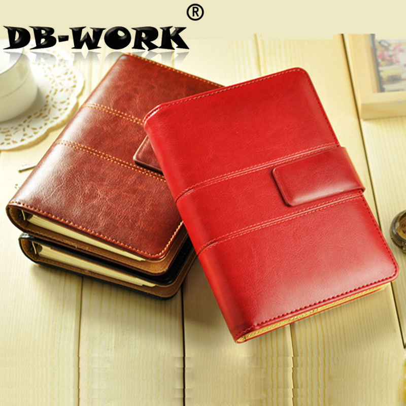A5 high-grade leather color leather loose leaf notebook magnetic hasp business notebook can be customized