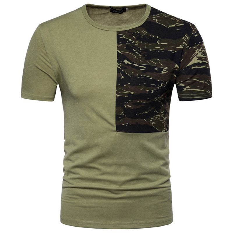 1e8c1a449ed Man Casual Camouflage T shirt Men Cotton Arm Combat Short Sleeve T Shirt  Camo Camp Mens Tees Army Green black M XXL T Shirts-in T-Shirts from Men s  Clothing ...
