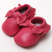 GSCH Baby Shoes Leather Tassels Girls Boy First Walkers Soft Sole Infant Baby Moccasins Baby Boy
