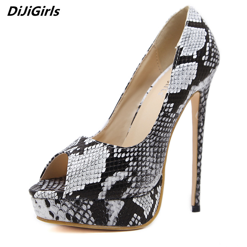 Brand Sexy Pumps 16 cm High Heels Women Platform Shoes Woman Serpentine Leather Wedding Shoes Women Heels Ladies Stiletto Shoes luxury brand crystal patent leather sandals women high heels thick heel women shoes with heels wedding shoes ladies silver pumps