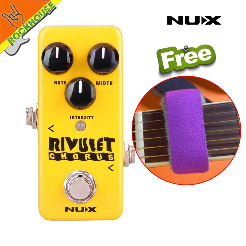 New NUX Mini Core Rivulet Digital Chorus Pedal Chorus Guitarra Effects Pedal with Upgraded Firmware True Bypass Free Shipping nux pmx 2 multi channel mini mixer 30
