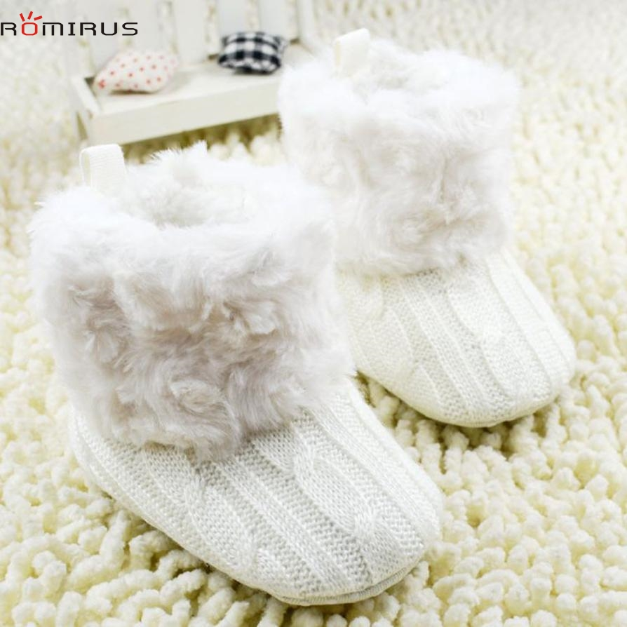 modern baby jumper promotionshop for promotional modern baby  - romirus modern  baby girl shoes winter snow boots warm knitting softsole casual shoes drop shipping mar