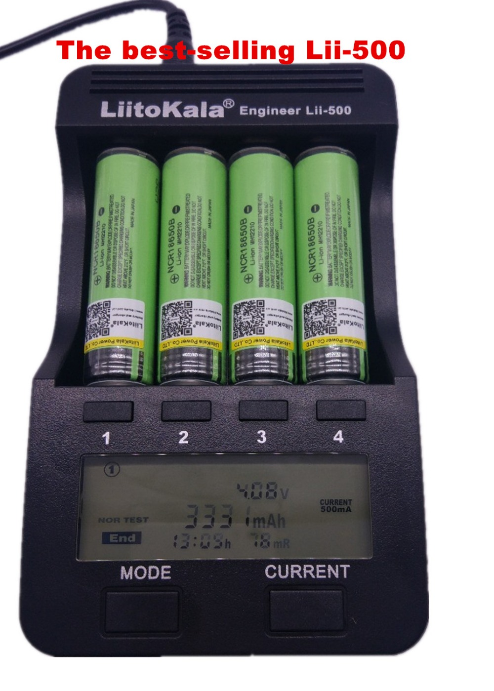 2018 new LiitoKala lii-500 LCD Charger for 3.7V 1.2V 18500 26650 16340 14500 10440 18650Battery ,100% original Smart Charger