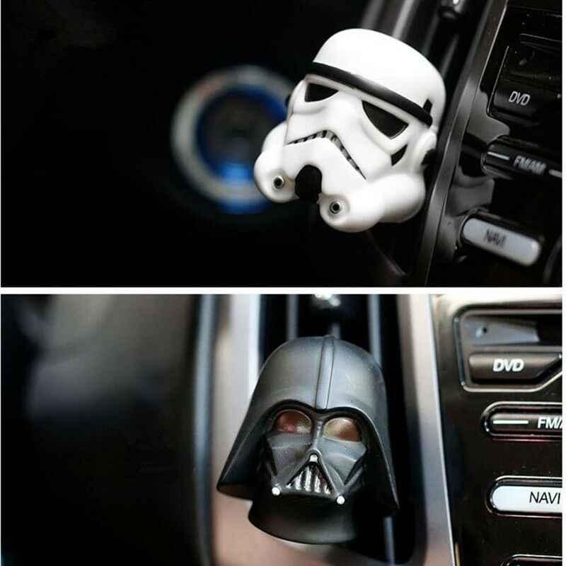 Ambientador de aire del coche Clip de Perfume de ventilación lindo para Star Wars Interior del automóvil Baymax muñeca fragancia difusor accesorios regalo